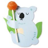 【BlueCat】藍色無尾熊棒棒糖吸管裝飾卡 派對裝飾 (50入)