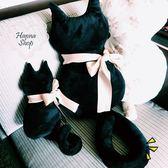 《花花創意会社》創意萌萌捲尾貓咪靠枕。中【H5100】