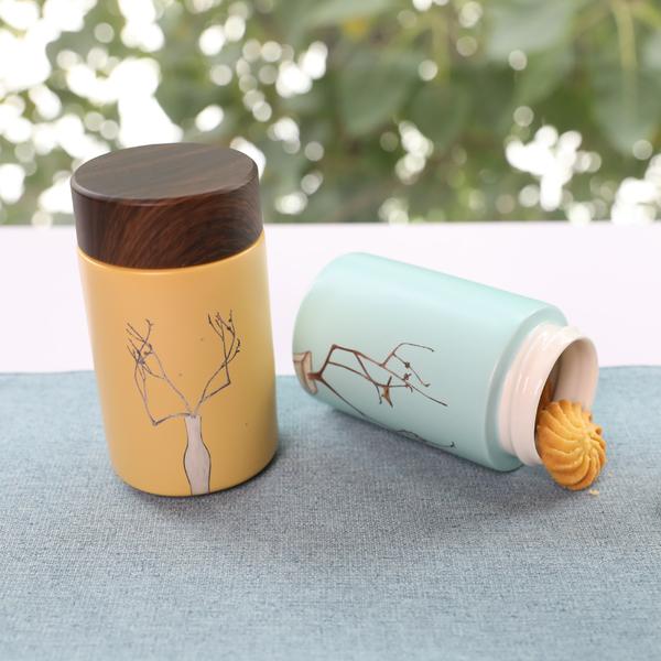 陸寶 常玉陶瓷隨身杯(小) 300ml 健康飲水 一器多用 讓藝術生活化