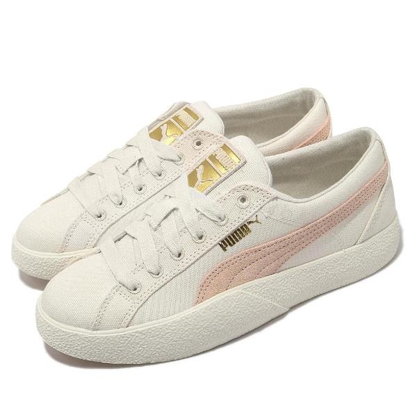 Puma 休閒鞋 Love In Bloom Wns 米白 櫻花粉 帆布 刺繡玫瑰 女鞋【ACS】 37506501