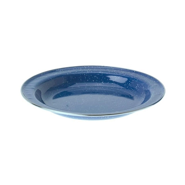 "[GSI] Plate Stainless Rim 8.5"" 藍色砝瑯盤 (不鏽鋼包邊) (31522)"