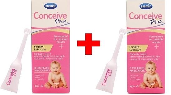 [微友] 2盒 法國SASMAR Conceive Plus 助孕潤滑液 潤滑劑 4g *8支(單次使用)