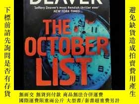 二手書博民逛書店英文原版罕見THE OCTOBER LISTY254456 jeffery deaver c gunner p