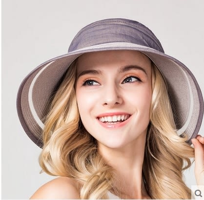 夏天防曬遮陽帽防紫外線太陽帽可折疊沙灘大沿帽  -charle0036