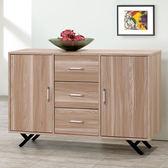 Homelike 路西4尺收納餐櫃-原木色-免組裝
