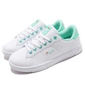 FILA CourtDeluxe 女潮流復古鞋(綁帶)-白綠