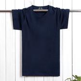 夏季男士加肥加大 純色短袖T恤 寬鬆半截袖 特大碼肥佬裝 M-7XL碼