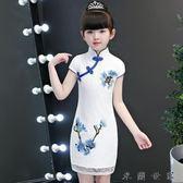 女童旗袍連身裙女童裝小女孩公主裙
