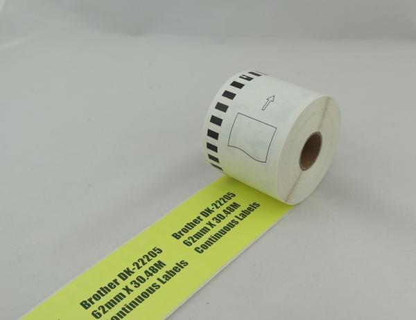 Brother DK-22225 連續副廠標籤帶 38mm x 30.48M 塑管塑芯 DK22225標籤紙 不含支架