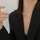 雙層疊戴蛇骨鏈項鏈女INS嘻哈冷淡風鎖骨鏈小眾設計感頸鏈配飾品