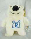 【震撼精品百貨】日本泰迪熊~鎖圈『微笑白』