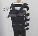 FINDSENSE品牌 日系 時尚潮流 男 鉚釘裝飾 學生包 旅行背包 多用途背