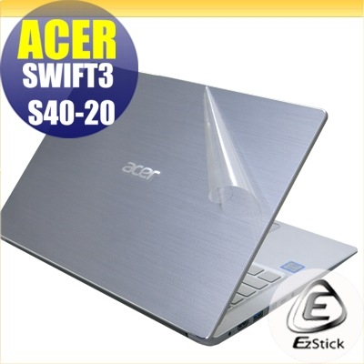 【Ezstick】ACER Swift 3 S40-20 二代透氣機身保護貼(含上蓋貼、鍵盤週圍貼、底部貼) DIY包膜