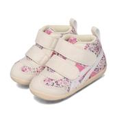 Asics 休閒鞋 Fabre First CT3 米白 粉紅 童鞋 小童鞋 花卉圖騰 魔鬼氈 運動鞋【PUMP306】 1144A015700