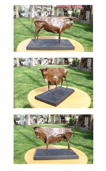 黃銅畢加索牛 銅雕塑像工藝品