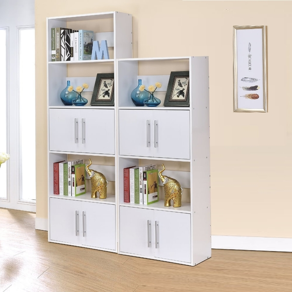 ONE HOUSE-北歐二代五層雙門展示架/雙面隔間櫃/書櫃/書架/高低櫃
