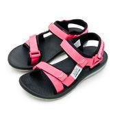 LIKA夢 LOTTO 輕量流行織帶運動涼鞋 街頭流行時尚系列 珊紅黑 6162 女
