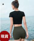依芝鎂-B424泳褲高腰遮腹韓秘短褲泳褲正品,單褲售價580元