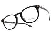 TOM FORD 光學眼鏡 TOM5401F 001 (黑) 完美質感T字半圓框款 # 金橘眼鏡