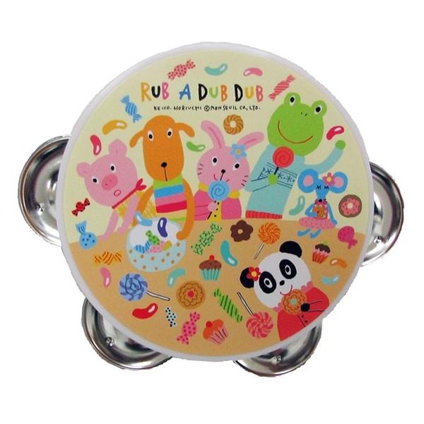 【日本製】【Rub a dub dub】幼童用寶寶玩具 迷你手搖鈴 粉色 SD-9098 - Rubadubdub