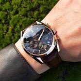 男士手錶  男士手錶男錶學生石英錶防水簡約時尚潮流韓版腕錶  汪喵百貨