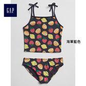 Gap女童 時尚舒適柔軟印花泳裝套裝 239449-海軍藍色