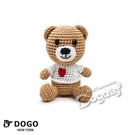 狗日子紐約《DOGO》小熊手編玩具 手工編織玩偶 寵物玩具 發聲玩具 小型犬/貓咪適用