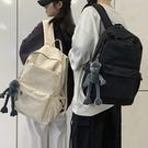 帆布包 書包男潮牌簡約學生時尚旅行休閑帆布雙肩包男士電腦背包大容量軟