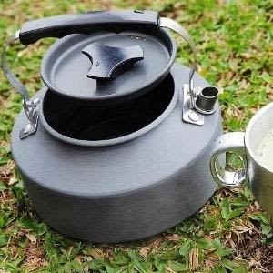 ♥巨安購物網♥【107013010】野外茶壺野營鋁合金1.1L咖啡壺便攜開水壺