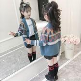女童毛衣2018新款韓版洋氣中大童線衣兒童針織衫春秋百搭開衫外套 萬聖節服飾九折