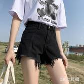 黑色牛仔短褲女ins潮高腰夏2020新款顯瘦百搭寬鬆闊腿泫雅a字熱褲 FX4958 【MG大尺碼】