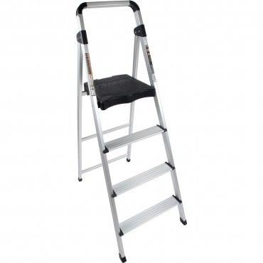 PRO特選 四階鋁製輕便寬踏板梯