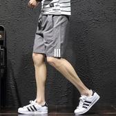 2件裝-寬鬆薄款七分褲 運動跑步沙灘五分褲 外穿純棉短褲