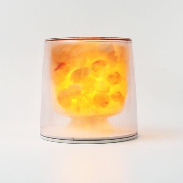 酒杯型LED玫瑰鹽晶燈(Annapurna/透明)