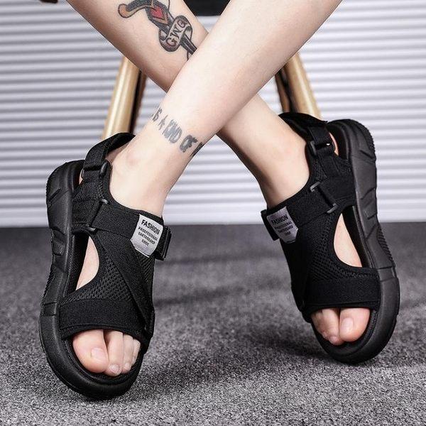 涼鞋-新款夏季涼鞋男士沙灘鞋室外休閒韓版人字潮流時尚外穿拖鞋男 伊蒂斯女装