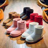 靴子 兒童雪地靴女童冬季鞋防水加絨男童靴子防滑短靴加厚棉靴【中秋節】