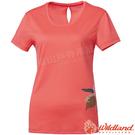 Wildland 荒野 0A61625-78粉橘色 女咖啡紗抗菌長版上衣 抗紫外線/吸濕排汗/涼爽散熱/休閒衫/圓領T