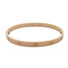 Cartier 卡地亞 LOVE系列18K玫瑰金手環 手鐲 Bracelet #21【二手名牌 BRAND OFF】