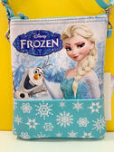 【震撼精品百貨】冰雪奇緣_Frozen~迪士尼公主系列斜背包-冰雪奇緣藍#19389