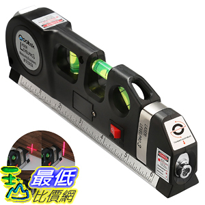 [106美國直購] 多功能鐳射水準鐳射測量線 Qooltek Multipurpose Laser Level laser measure Line 8ft