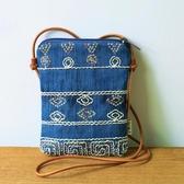 布奏手工布包刺繡斜挎包女古風民族風中國風時尚小包繡花手機包包