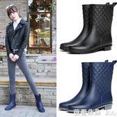 雨鞋雨靴 中筒雨鞋女雨靴成人防滑膠鞋夏水靴平底套鞋防水膠靴韓國時尚水鞋【芭蕾朵朵】