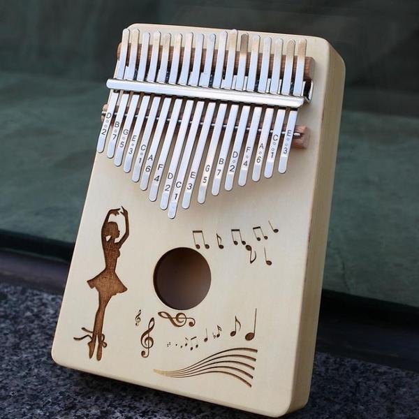 拇指琴卡林巴琴17音拇指琴初學者入門kalimba卡淋巴便攜手指鋼琴卡巴林 晶彩