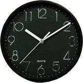 FRANCO黑色一體成型精緻掛鐘TW-950【愛買】
