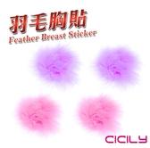折價券角色扮演 乳飾 胸貼 可愛毛球造型胸貼 乳頭貼 紫色 可重複使用 VIVI情趣精品 情趣用品