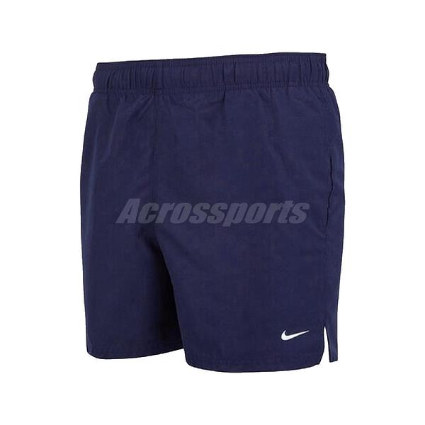 Nike 短褲 Essential Lap Board Shorts 藍 白 男款 海灘褲 運動休閒 【ACS】 NESSA558-440