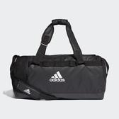 L-adidas Convertible Training Duffel 健身 裝備 旅行 行李袋 黑 大容量 DT4814
