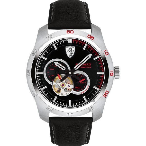Scuderia Ferrari 法拉利 PRIMATO 鏤空機械錶-黑/44mm 0830442