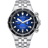 EDOX Delfin 水上冠軍專業200米防水計時碼錶-藍x黑錶圈/43mm E10109.3M.BUIN