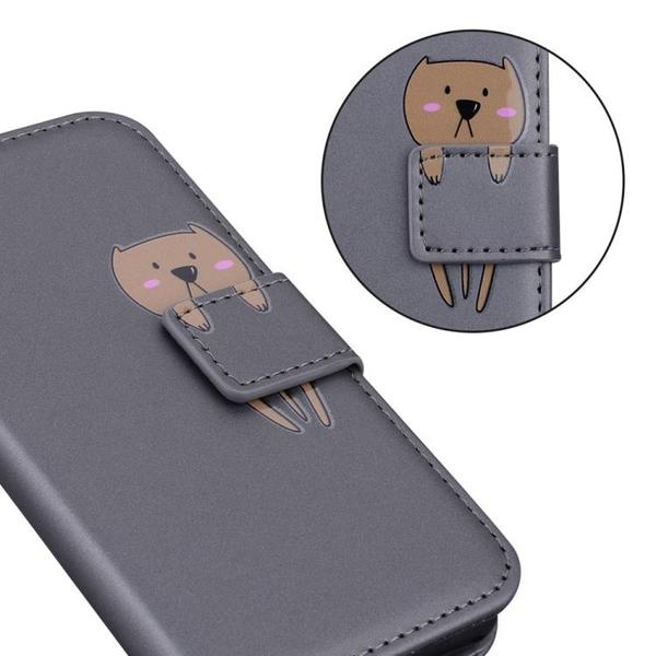 時尚卡通動物 翻蓋皮套 三星A52 5G 錢包款手機殼 三星 Galaxy A52 5G 掀蓋保護殼 磁釦 手機套 可愛